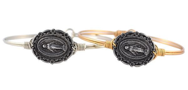 Luca + Stella Mother Mary Bangle  #lucastella #bloomingboutique #mothermary