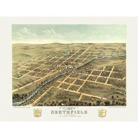 24x36 Vintage Historic Map San Diego California 1876 San Diego County