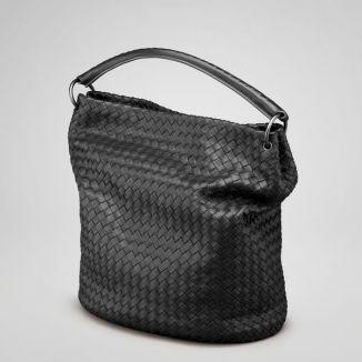 Bottega Veneta Nero Intrecciato Nappa Bag 255690 Black  06923e052fee1