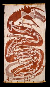 Yirawala Bark Painting Creation story
