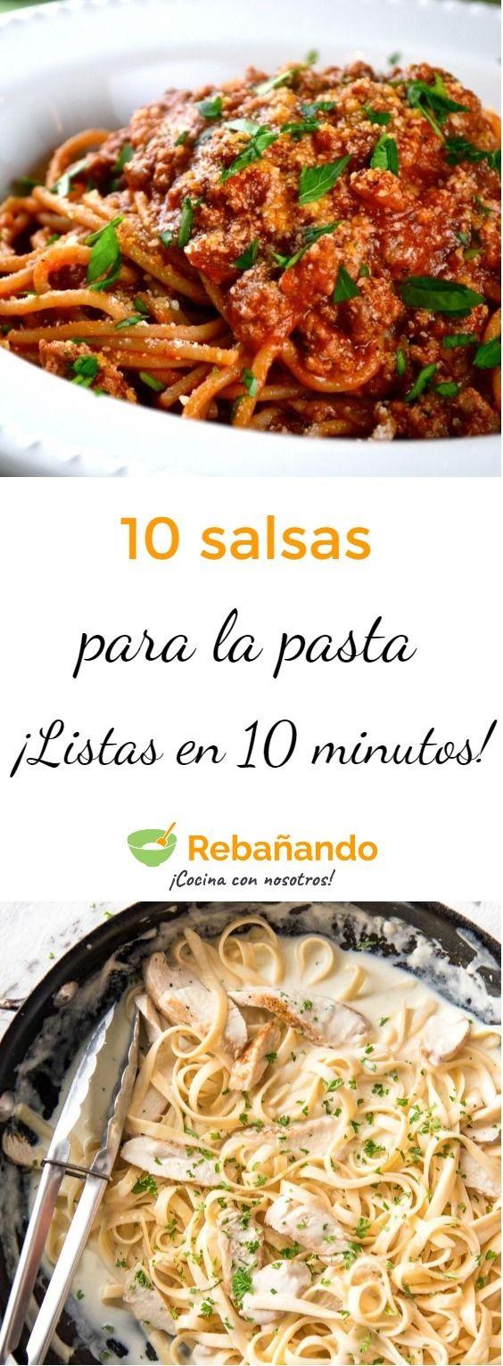 10 SALSAS PARA LA PASTA listas en 10 minutos