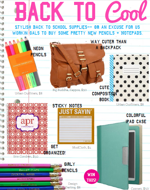 Super cute back to school supplies // La Petite Fashionista Mag Issue 1  http://lapetitefashionista.blogspot.com/p/magazine.html