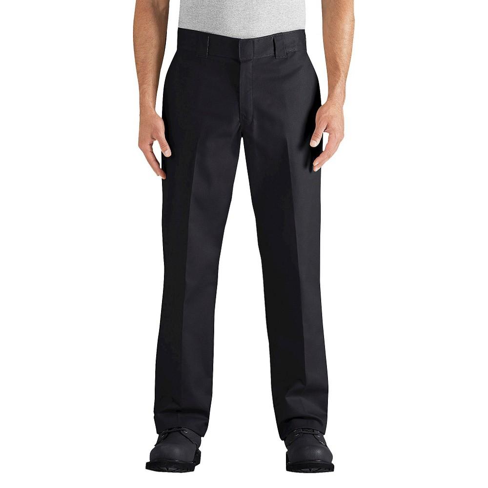 Dickies mens regular straight fit flex twill pant black