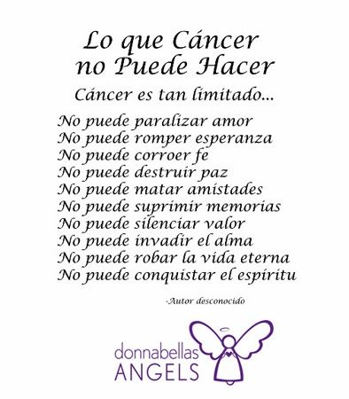 What Cancer Cannot Do Poem In Spanish What Cancer Cannot Do Poem