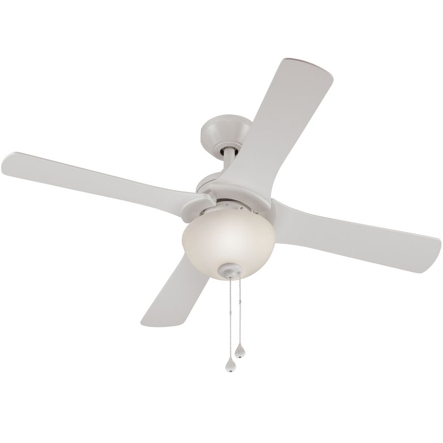 Shop Harbor Breeze Aero 42 In White Downrod Or Close Mount Indoor Ceiling Fan With Light Kit 4 Blade At Lowes Com Ceiling Fan Ceiling Fan With Light Ceiling