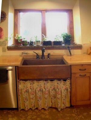 Type Of Countertop With Copper Sink | Image Detail For   Copper Farm Sink  From Mexico. Concrete Countertops.