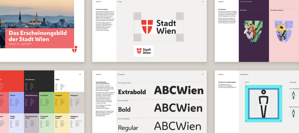 Brand New New Logo And Identity For City Of Vienna By Saffron In 2020 Brand Communication Identity Logo Brand Guidelines