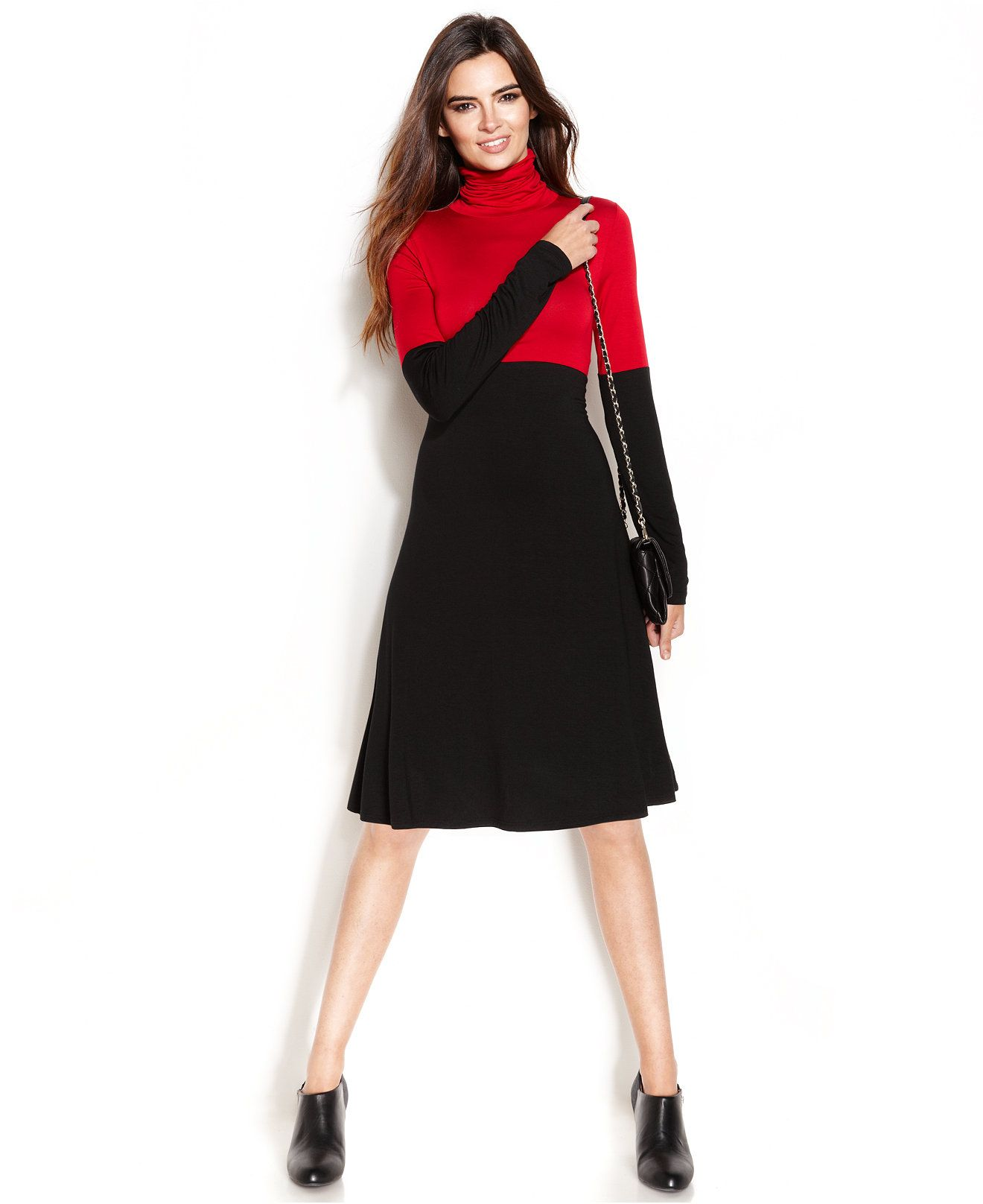 Karen kane turtleneck colorblocked dress dresses women macyus