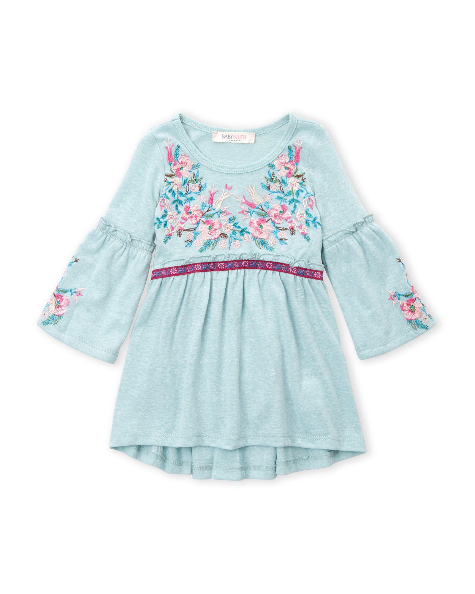 Baby Sara Infant Girls Floral Embroidered Dress