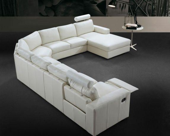 Corner recliner leather sofa uk for B b soggiorno madrid