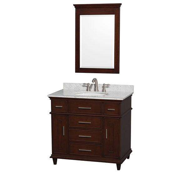 Bathroom Vanity Options wyndham berkeley (single) 36-inch dark chestnut transitional