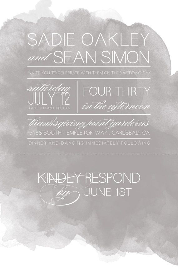 Wedding invitations with tear off perforated rsvp for Wedding invitation printing prices