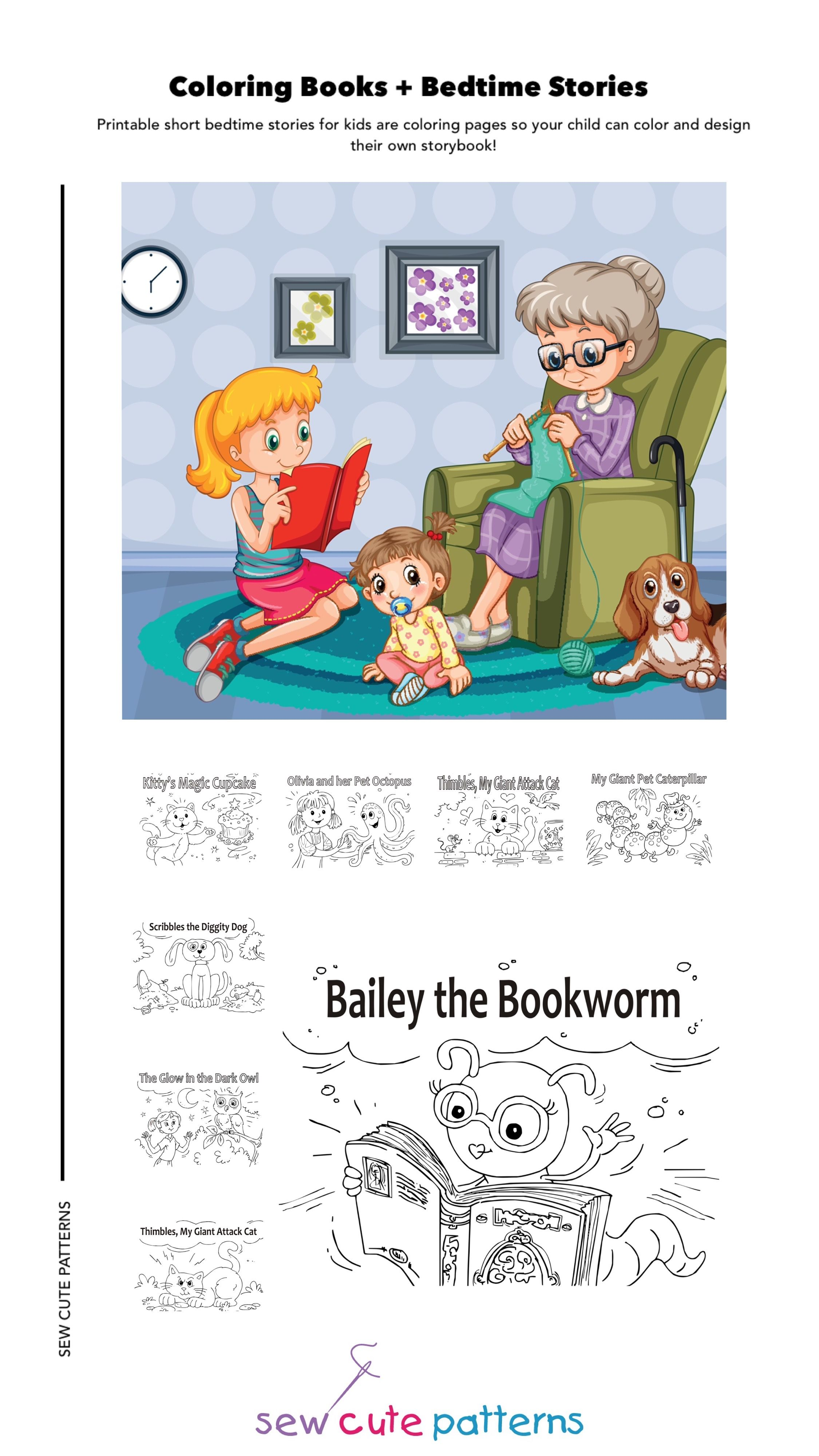 Coloring Books For Kids With Stories Childrens Coloring Etsy Kids Story Books Childrens Colouring Book Short Stories For Kids