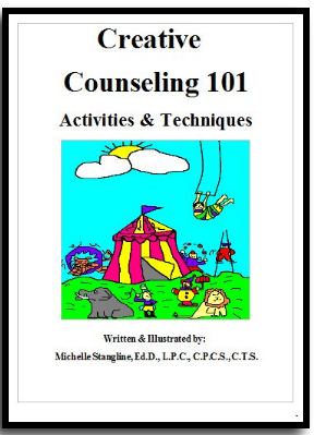 Counseling Activities eBook: Learn even more about Creative Counseling 101 techniques in this 159 page book. This colorful eBook has even more ideas to help you become the best Creative Counselor you can be!