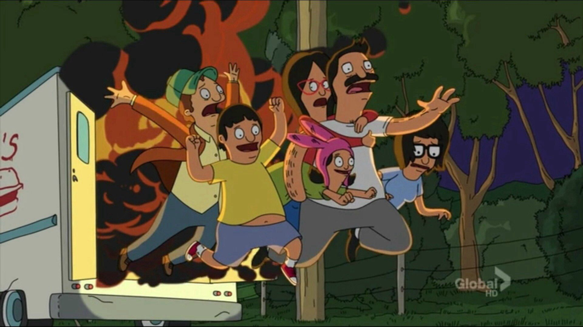 Bobs burgers food truck meets an untimely and fiery end