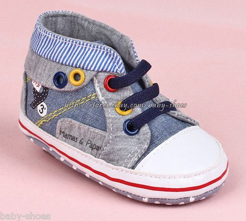 50f478004b8 Toddler Baby Boy Denim Walking Shoes Sneakers Size 0-6 6-12 12-18 Months