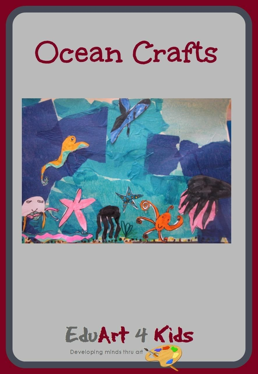 This Is A Great Ocean Craft That Includes Collage Drawing And