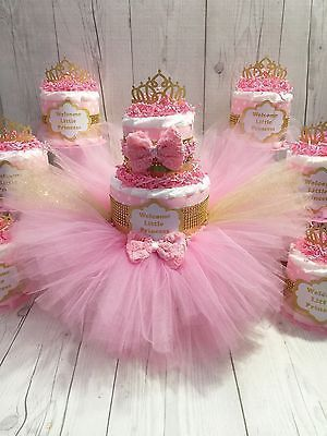 12 Super Cute Diaper Cake Ideas For Baby Showers Happiness Is Handmade Tutu Baby Shower Tutu Baby Shower Theme Baby Shower Princess