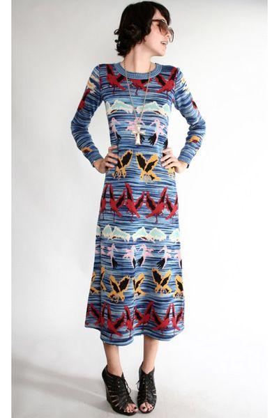 524fa04c29a vintage Betsey Johnson Alley Cat knit dress