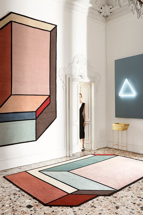 Visioni, the new rugs designed by Patricia Urquiola. Visioni A > and  Visioni B