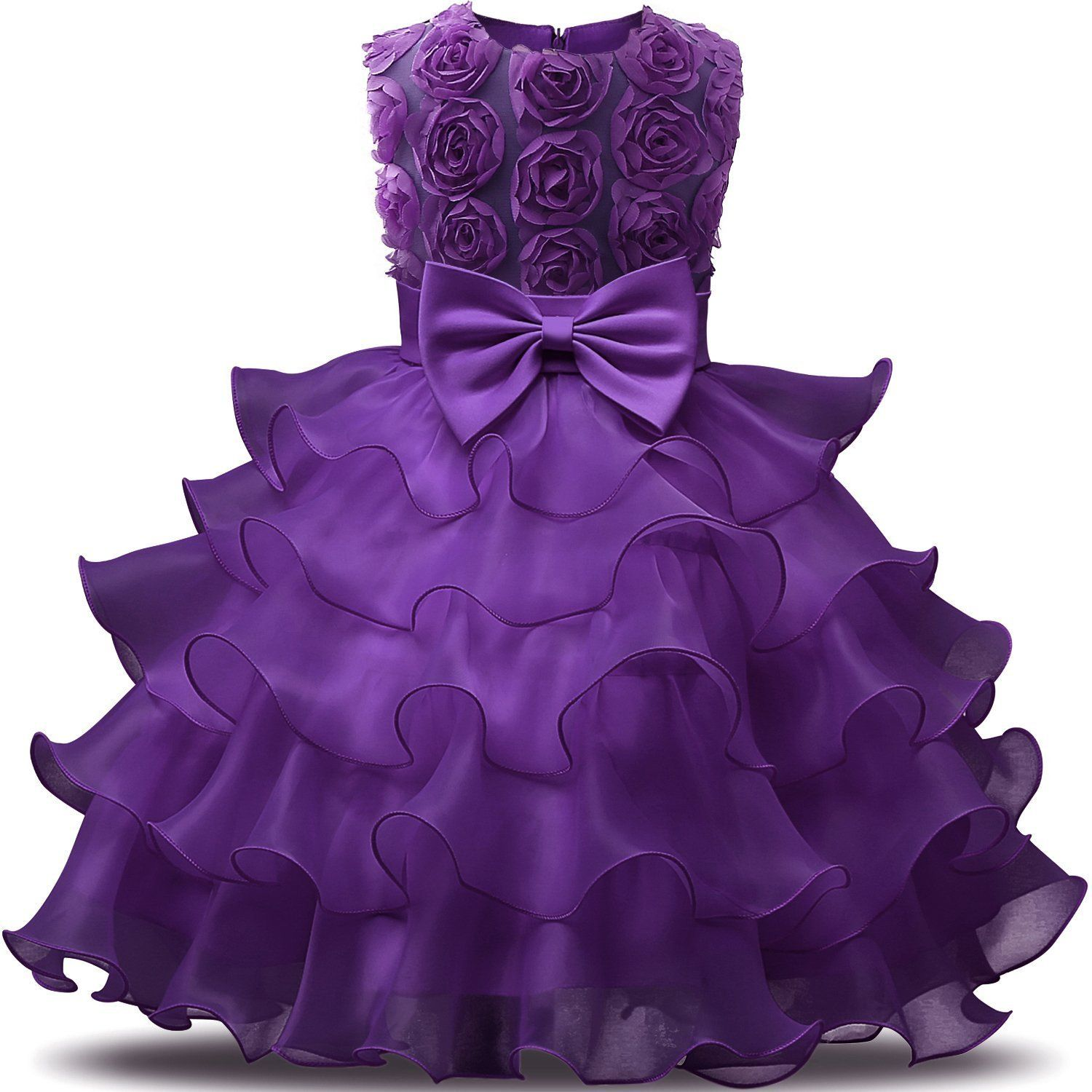 b7142580a8306 Pleated Flower Decorate Sleeveless Princess Dress For Kids Girl On Sale -  NewChic