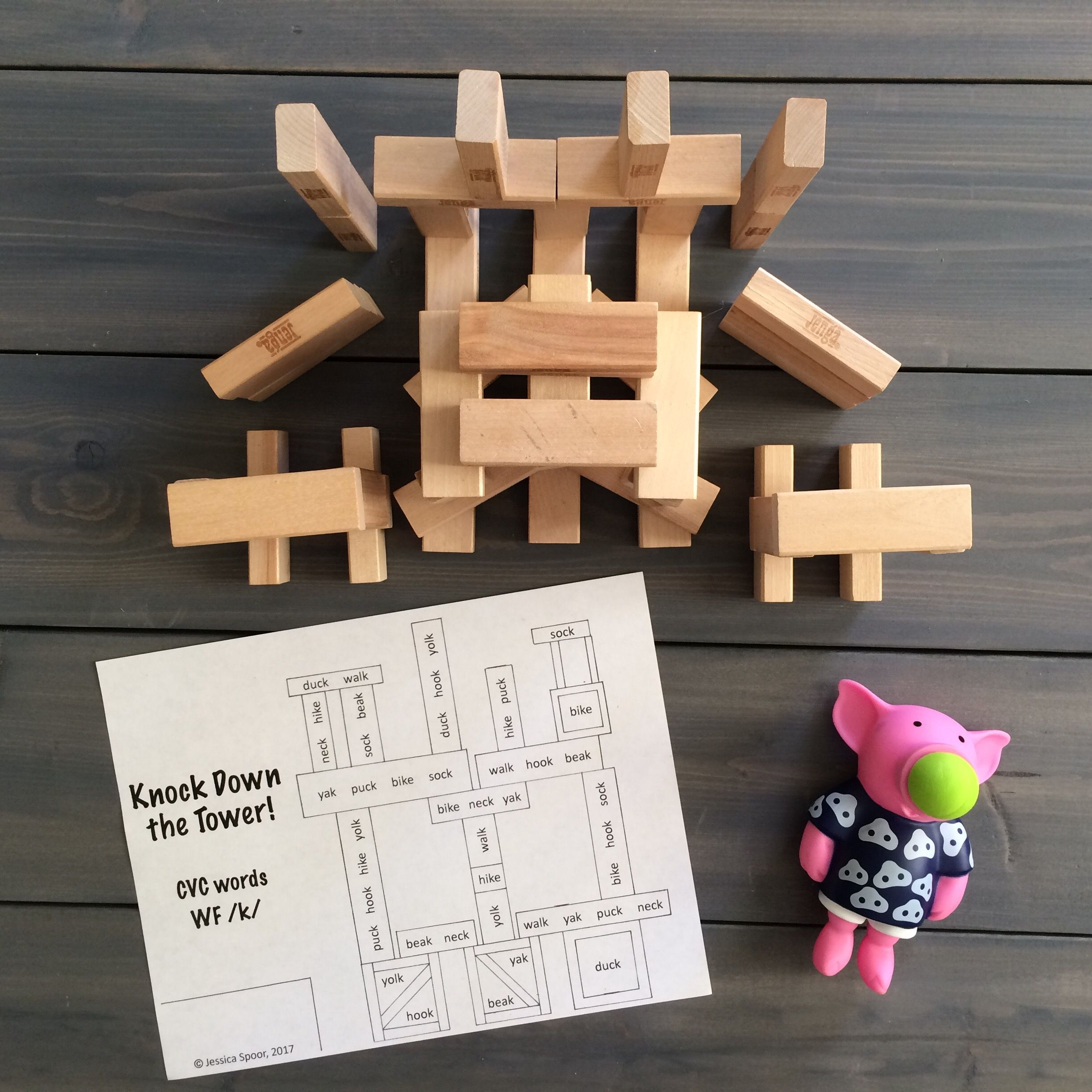 Knock Down The Tower Levelled Worksheet Bundle For Later