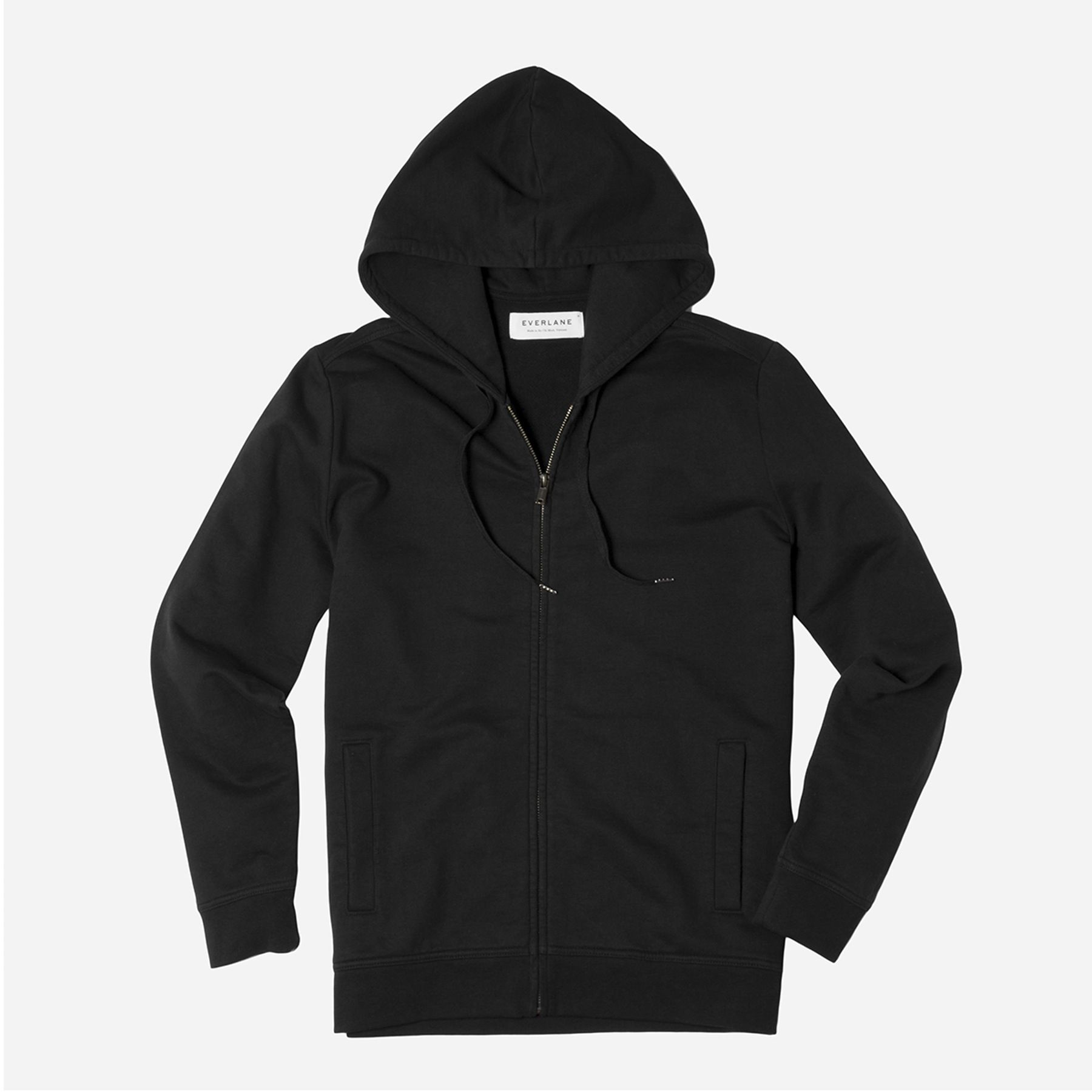 The iconic zip hoodie in a modern, upgraded fabric Regular fit Features classic set-in sleeves, lined hood, and topstitch seam…