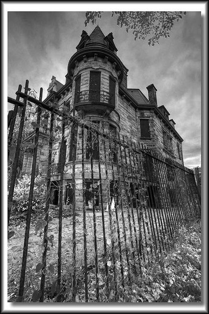 Franklin Castle, Cleveland, USA (by bob trinnes) often referred to as the most haunted house in all of Ohio.
