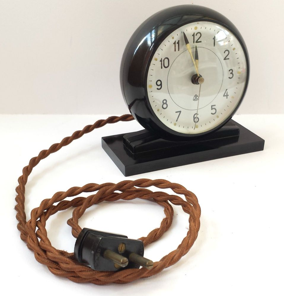 Vintage Retro Rare Bakelite Arne Jacobsen Lk Synkronur Scandinavian Alarm Clock Tick Tack Clock Retro Vintage Vintage