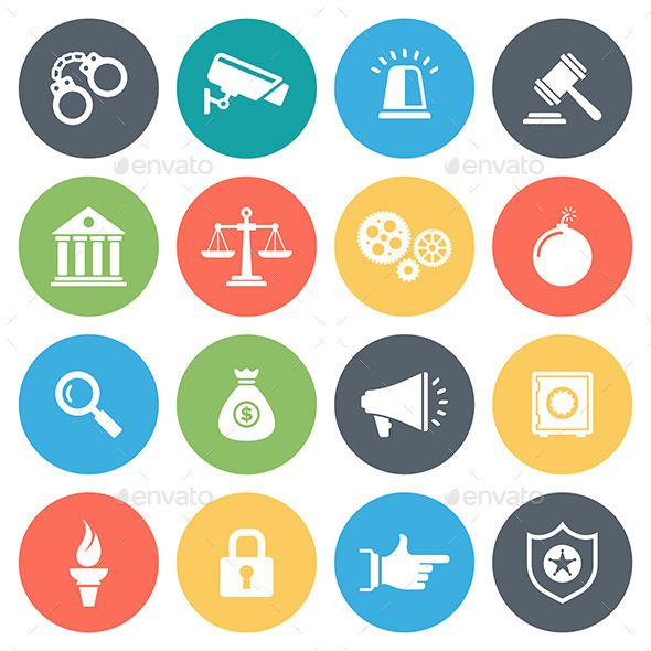 Law and Order Icons | Icons, Icon collection and Font logo