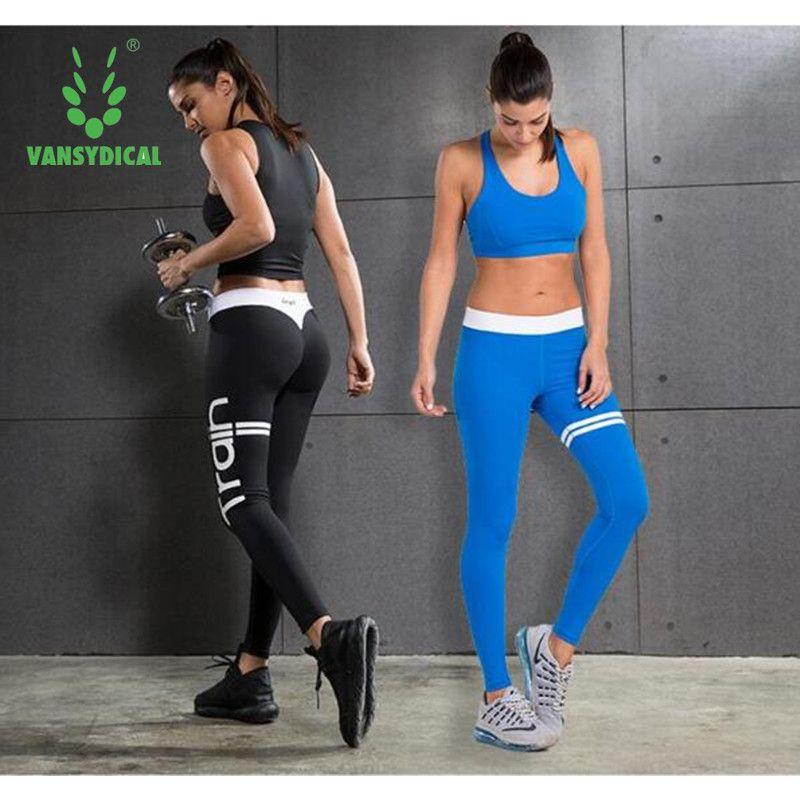 8d1ce1b5d271 2Pcs Women Yoga Sets Fitness Bra+Pants Leggings Set Gym Workout Sexy Sports  Wear Patchwork