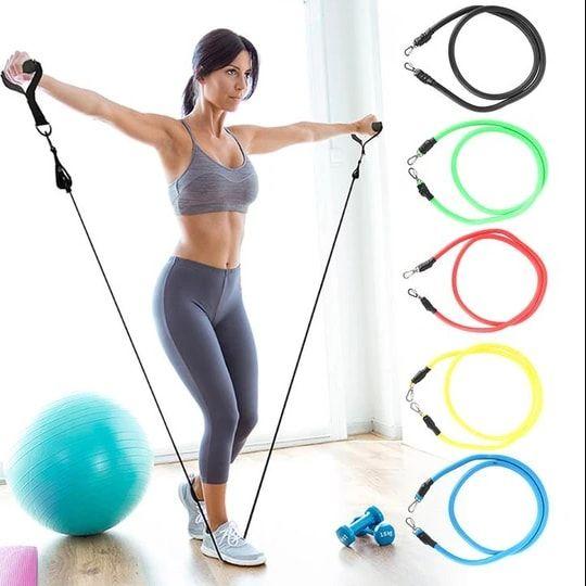 Best 11 Pcs Excercise Resistance bands set for Home Gym