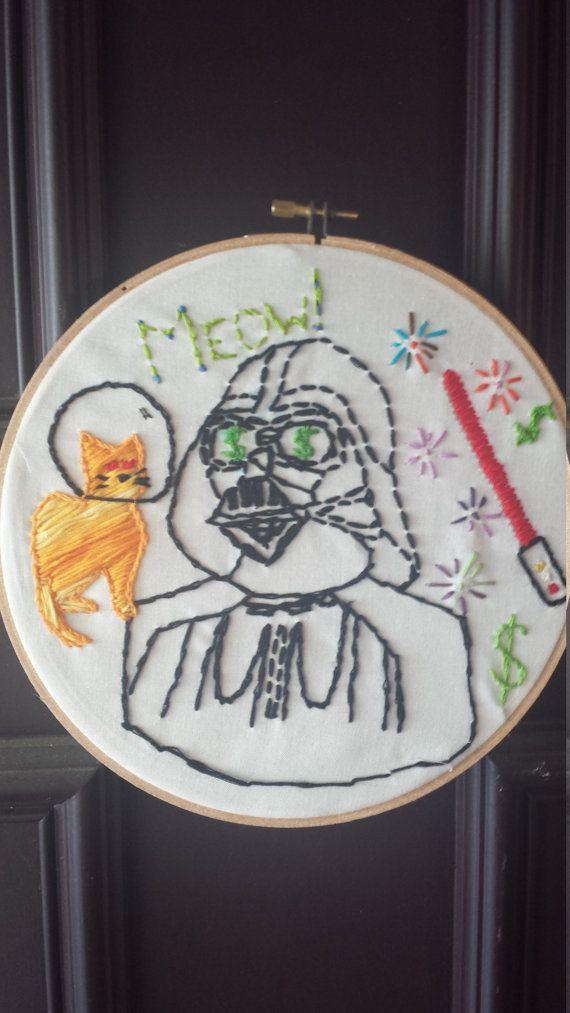 Darth Vader Hoop Art by MadeByKalyn on Etsy, $15.00