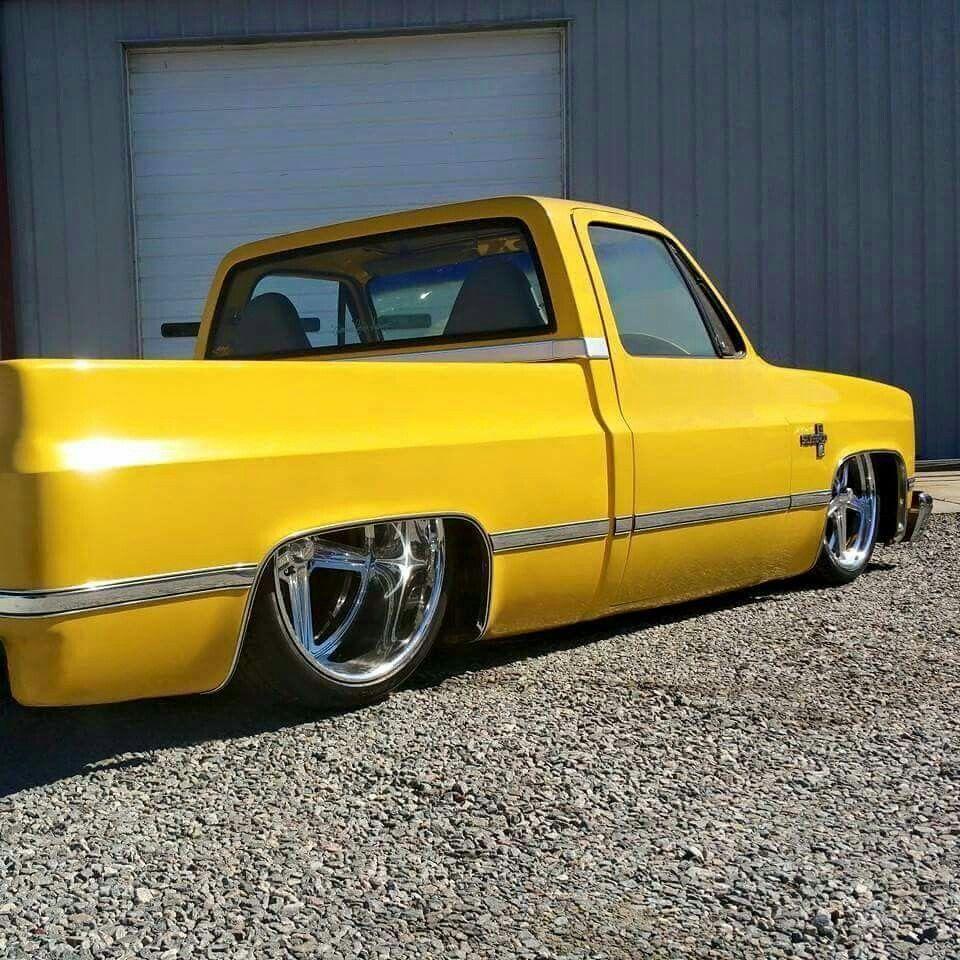 Yellow C10 Chevy Trucks Classic Cars Trucks Old Pickup Trucks