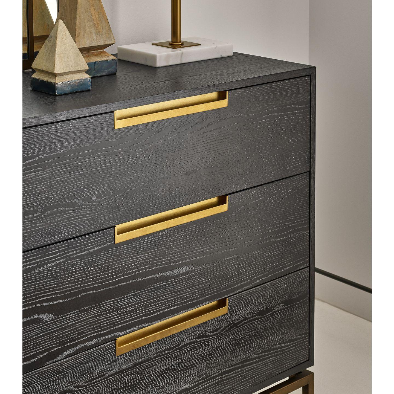Brianna Modern Classic Dark Brown Wood 6 Drawer Dresser Universal Furniture Brown Wood Campaign Dresser [ 1440 x 1440 Pixel ]