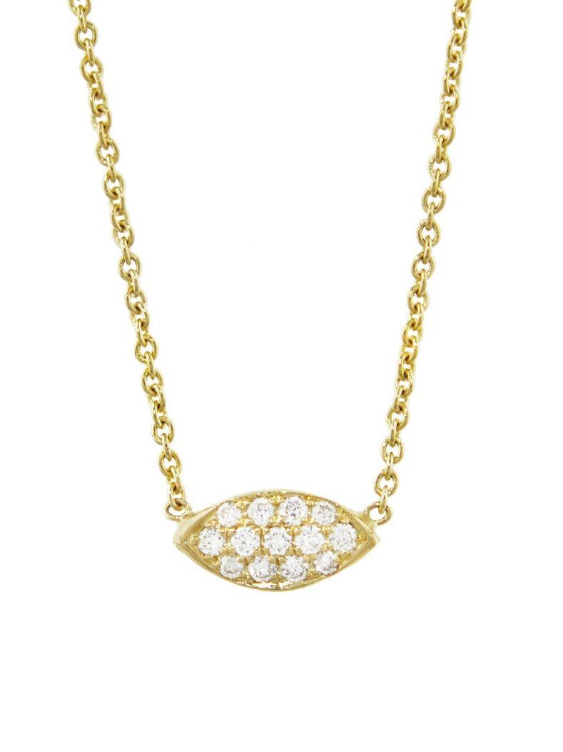 c205d7e11cce7 Jennifer Meyer Jewelry - Mini Diamond Evil Eye Necklace Handcrafted ...