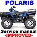 Polaris Atv 2001 Sportsman 400 500 Duse H O Repair Manual Improved Polaris Atv Repair Manuals Repair And Maintenance
