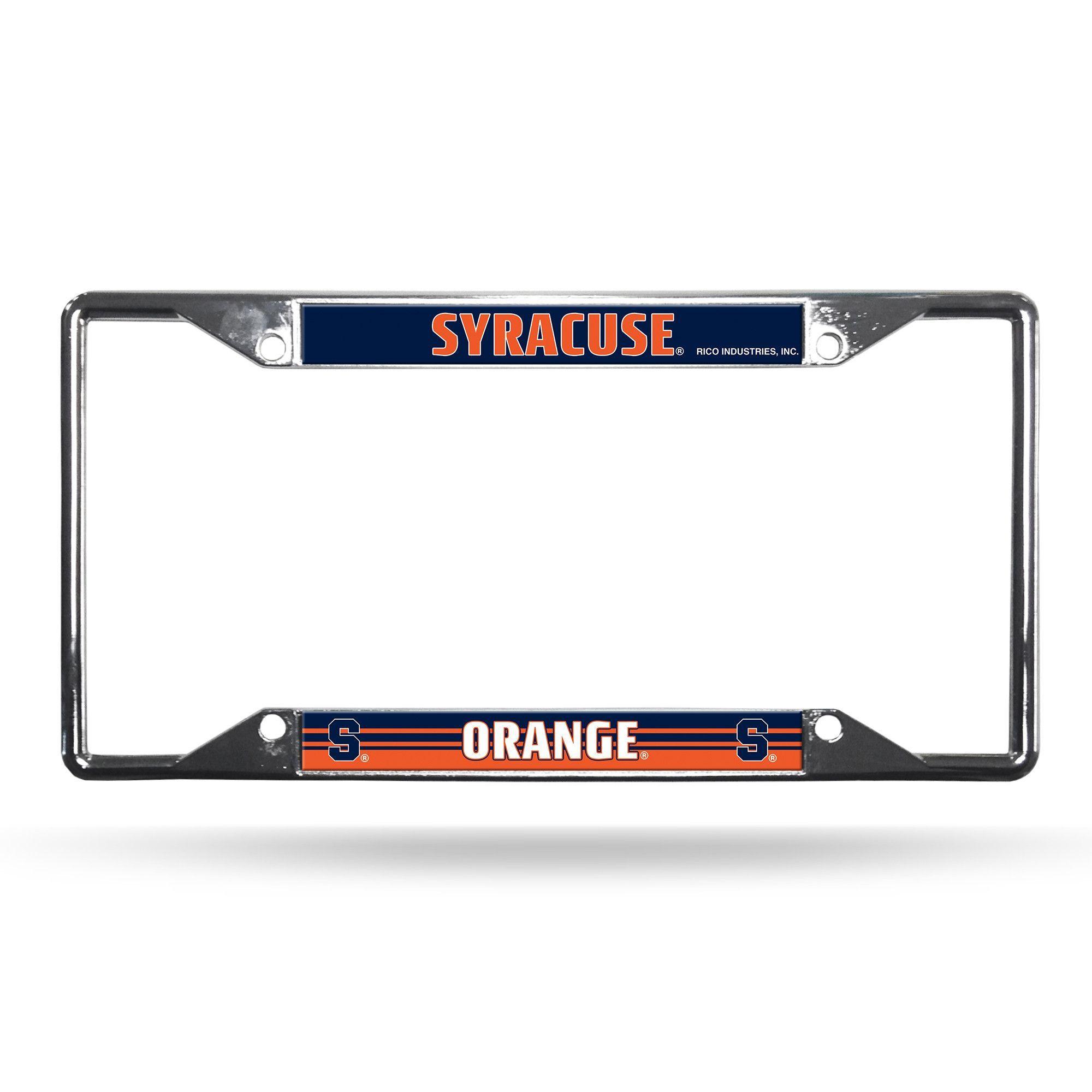 Syracuse Orange License Plate Frame Chrome EZ View~ backorder ...