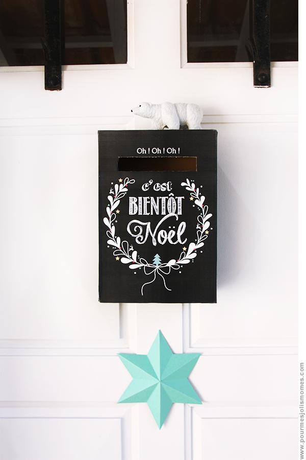 La boîte aux lettres de l'avent (calendrier DIY) #calendrierdel#39;aventdiy