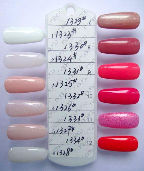 Gelish Color Chart 1 Nail Polish Nails Gelish Nail Polish