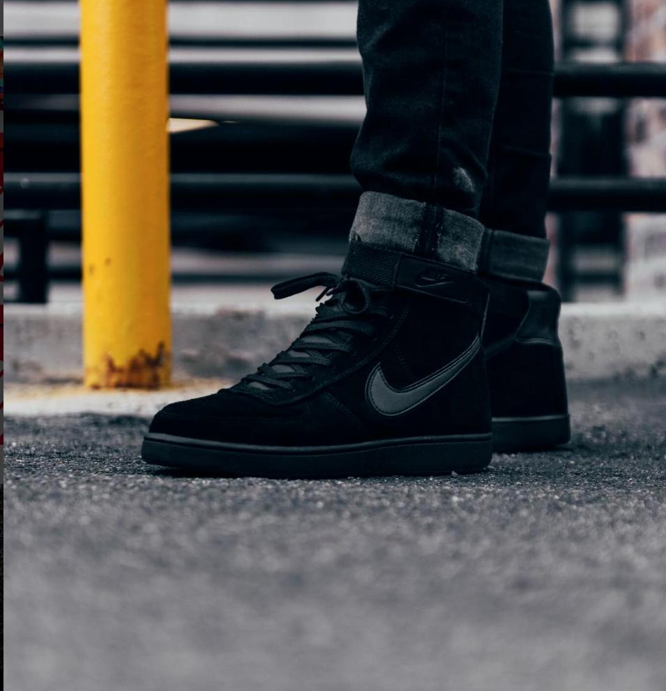 Nike x John Elliot Vandal High Supreme LTR Black Black Size 8-12 -  AH8518-100  3e44bb748