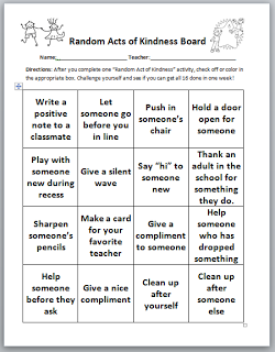 Random Acts Of Kindness Good Template And Could Be Modified For