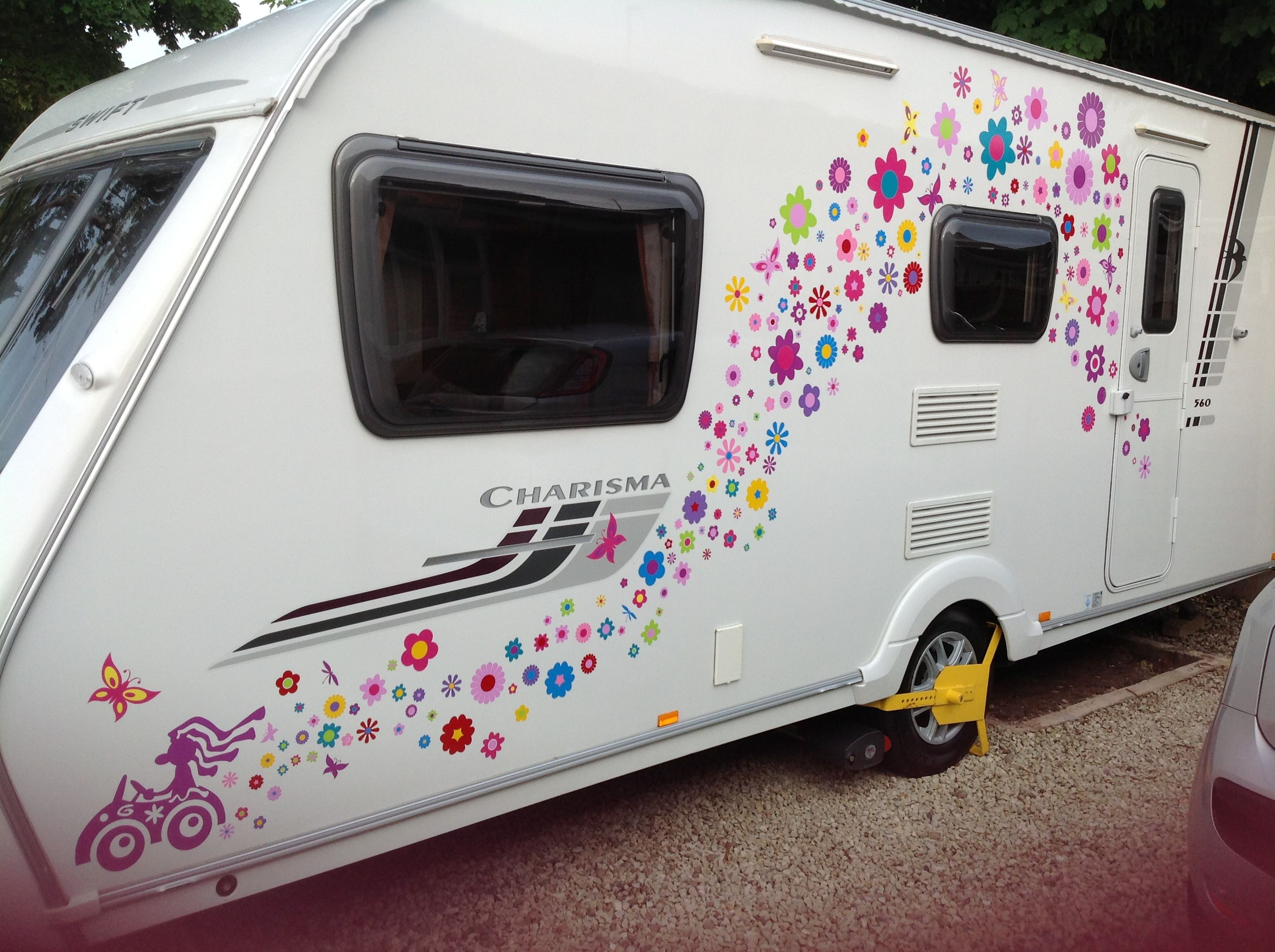 Best Uniquely Designed Hippy Car Stickers Decals Transfers For - Custom vinyl decals for caravans