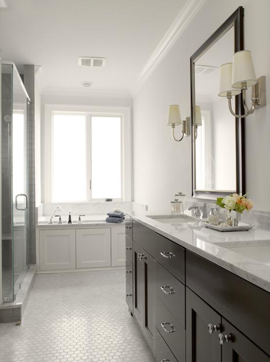 Graciela Rutkowski Interiors Bathrooms Gray Walls Espresso