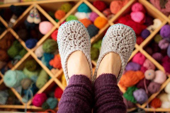 Tamaños de mujer zapatillas - zapatillas de casa de la Oma - los patrones de ganchillo