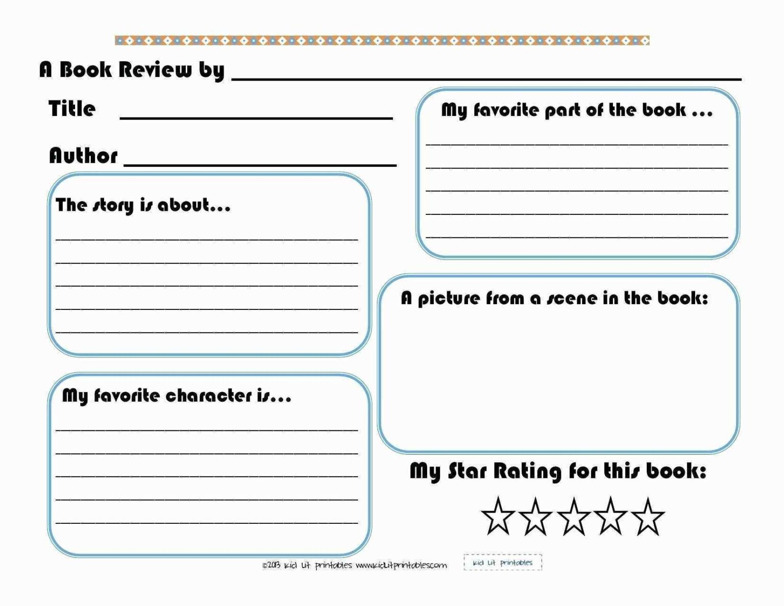 1st Grade Book Report Worksheets