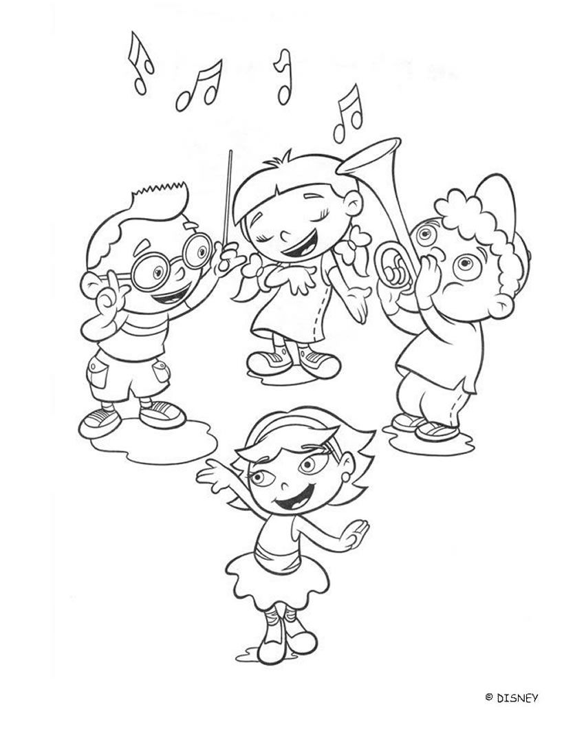 Little einsteins coloring pages free - Little Einsteins Coloring Pages Educational Fun Kids Coloring Pages And Preschool Skills Worksheets