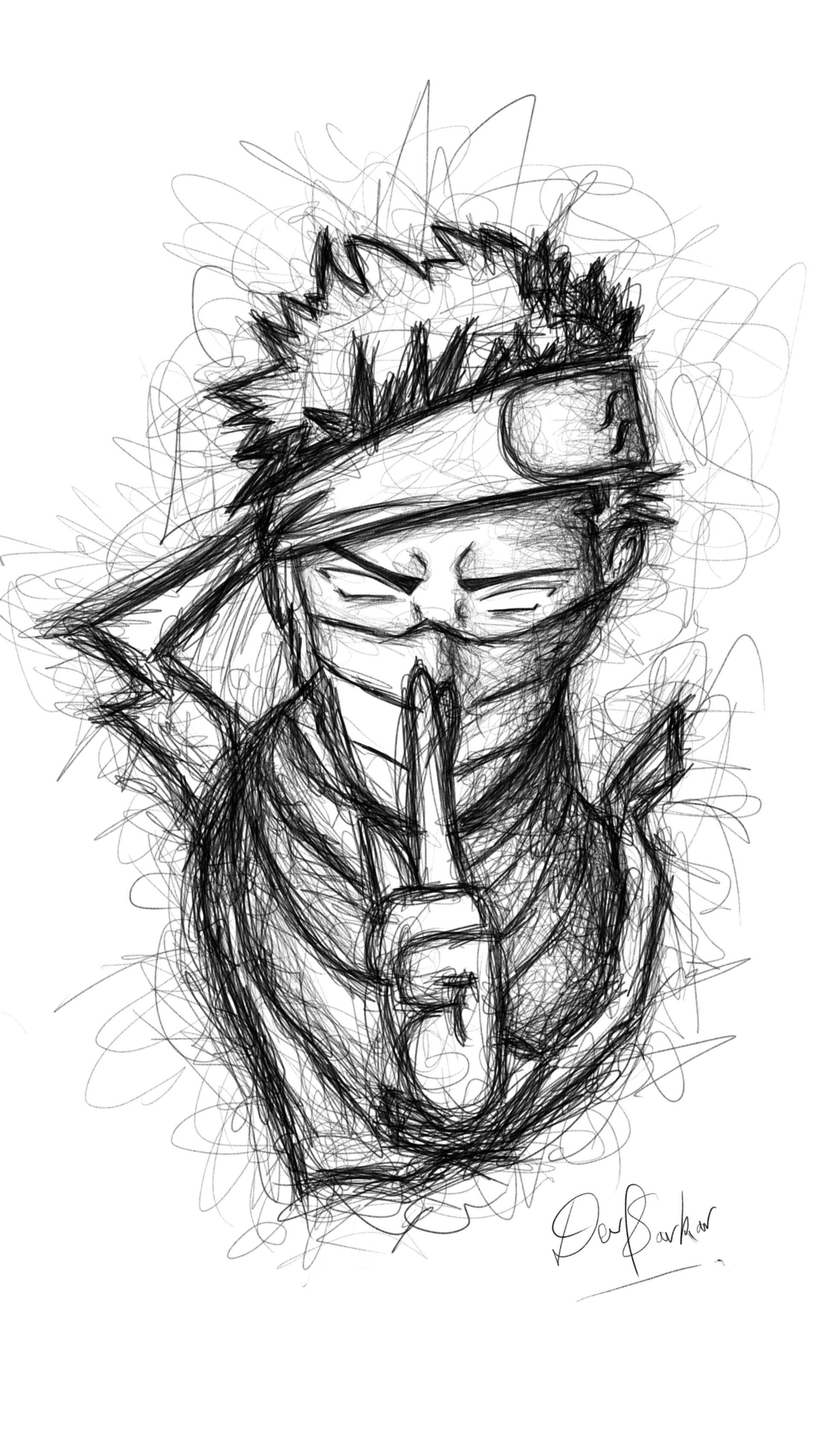 10 Naruto Drawing Images Dengan Gambar