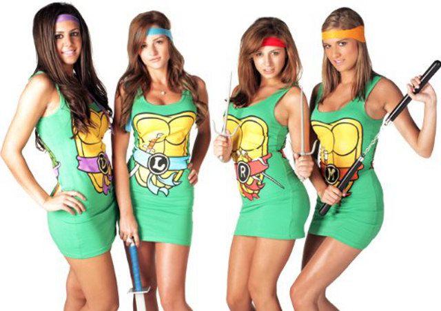 Usted va con el traje de Tortuga Ninja? Ahh! Travieso! :D