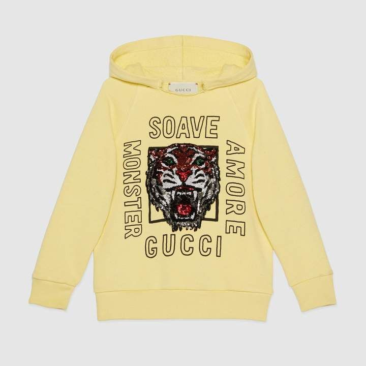 987aca4a9 Gucci Children's hooded sweatshirt with tiger. Gucci Children's hooded  sweatshirt with tiger Girls ...